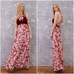 For Love & Lemons Blossom Tank Maxi Dress Small